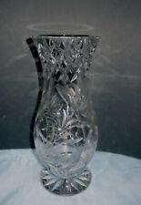 große Bleikristall Vase, Blumenvase, Kristall geschliffen,Schleuderstern, 2,9 kg