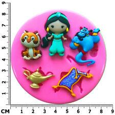 Princess Jasmine Genie Rajah Aladdin Silicone Mould by Fairie Blessings