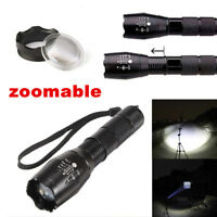 Ultrafire 60000lm T6 LED Zoomable 5Modes Tactical 18650 Flashlight Focus Torch^
