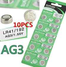 10pcs AG3 SG3 LR41 192 1.55V Alkaline coin Button coin Cell Battery Suncom CN