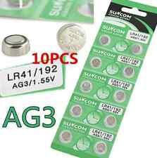 10pcs AG3 SG3 LR41 192 1.55V Alkaline coin Button coin Cell Battery Suncom CN