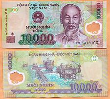 Vietnam / Viet Nam 2014 GEM UNC 10.000 Dong Banknote Polymer Money Bill P- 119