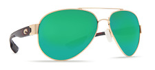 COSTA DEL MAR SUNGLASSES SOUTH POINT SO26 OGMGLP GOLD/GREEN GLASS 580G POLARIZED
