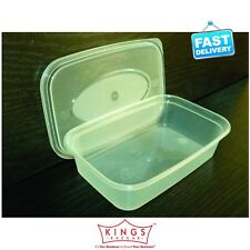 75 Plastic Food Containers and Lids C650 650ml
