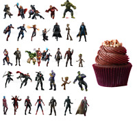 Avengers Marvel Eßbar Tortenaufleger Muffin Tortenbild Superhelden Party Deko