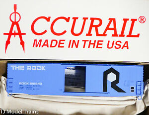 Accurail HO #5828 (Rd #516643) The Rock (50' Plug Dr Insulated Steel Boxcar Kit)