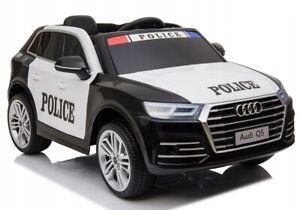 Audi Q5 Polizei, 2 Motoren, Kinderauto Kinderfahrzeug Elektroauto schw
