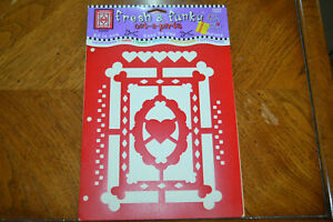 Vintage ONE HEART ONE MIND Fresh & Funky Template Stencil - #STE826.