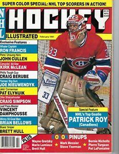 1991 Hockey Illustrated magazine Patrick Roy, Montreal Canadiens VG