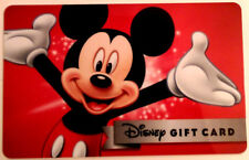 DISNEY MICKEY MOUSE NEW ! GIFT CARD zero balance never used MINT RECHARGEABLE!