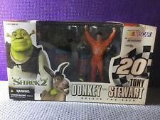 McFarlane Tony Stewart & Donkey Shrek NASCAR Action Figure NEW IN BOX