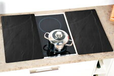 2x KESPER Herd-Abdeckplatte Glas Schneidebrett Ceranfeld-Abdeckung Herdabdeckung