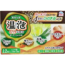 JAPAN ONPO CARBONATED BATHSALT TABLETS HINOKI / PINE / YUZU / IRIS HEALTH CARE
