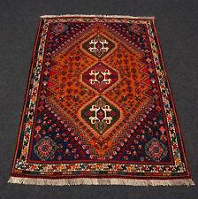 Orient Teppich Rot 156 x 120 cm Blau Perserteppich Handgeknüpft Carpet Rug Tapis