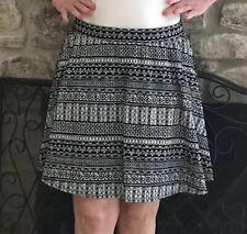 Joe B Joe Benbasset Black & Gray Geometric Women's Flare Skirt NWOT Size 1x