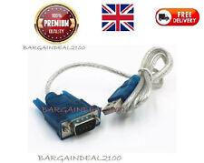 USB 2.0 To RS232 Serial Port DB9 9 Pin Male Converter Adopter Cable PDA GPS New