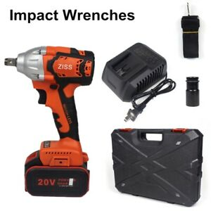"""20V Cordless Impact Wrench 1/2""""Brushless Electric Wrench Driver 520Nm w/ Battery"""