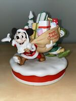 "Vintage The Disney Collection Christmas 1985 ""Santa's Helpers"" Figurine Mickey"