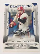 Matthew Stafford 2009 Panini Playoff Prestige RC Auto/Autograph #152/199 Lions