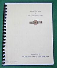 "Collins 75A-1 Instruction Manual: w/ 11""X17"" Foldout Schematics & Plastic Covers"
