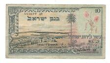 Israel - Ten (10) Lirot, 1955