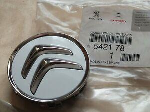 New Genuine Citroen DS3 Wheel centre cap White Chrome 542178 9670585977 PC22
