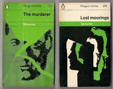 2 George Simenon Mystery~Early Penguin PB~UK 1960's printing~Nr VG