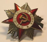 WWII Silver Gold Enamel Order of the Patriotic War 2nd Class #222519