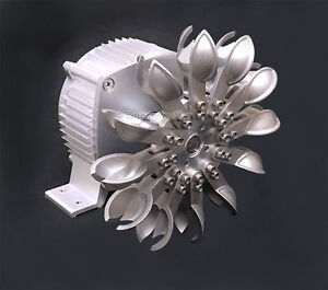 24V WindZilla PMA Pelton Water Wheel 17mm Adapter Micro Hydro Generator Turbine