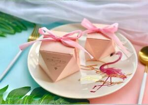 Multicolor Diamond Shape Baby Shower Candy Box Wedding Favors and Gifts Boxes