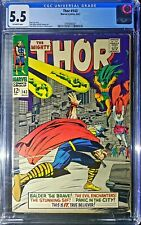 Thor 143 CGC 5.5 - Silver Age Classic! - Off-White / White Pages ⚡⚒