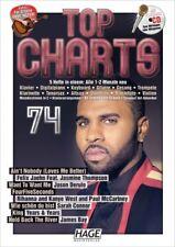 HAGE TOP CHARTS 74 Songbook + CD! Rihanna, Sarah Connor, James Bay uva HAGE 3873