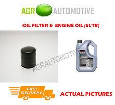 PETROL OIL FILTER + SS 10W40 ENGINE OIL FOR HYUNDAI MATRIX 1.6 103 BHP 2001-10