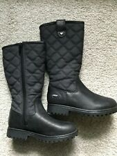 Clarks Girls Infant Boots Size 7 G Black Leather New