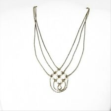 3-Strand Liquid Silver Necklace: Woven Strands w/ Freshwater Pearl Beads 16.25""