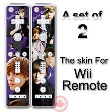 Justin Bieber Art SKIN COVER STICKER for Wii Remote