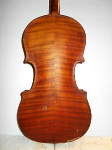 """Antique Old Vintage 1914 """"H.B. Warner - Scranton Pa"""" Full Size Violin - NR"""