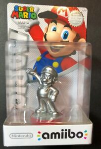 Nintendo Amiibo Figure [ Super Mario Series / Silver Mario ] NEW