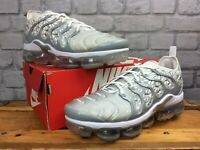 NIKE AIR MENS UK 8.5 EU 43 VAPORMAX PLUS WHITE WOLF GREY SILVER TRAINERS RRP£170