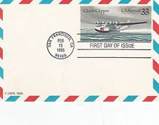 USA 1985 China clipper airmail Postcard FD issue VGC