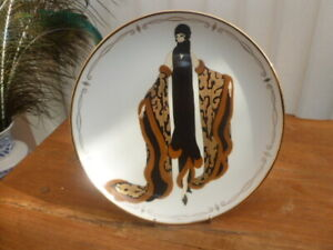 """FRANKLIN MINT HOUSE OF ERTE COLLECTOR PLATE """"MYSTIC"""""""