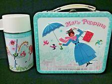 Lot 2 = 1964 Mary Poppins Disney metal lunch box + Thermos Aladdin
