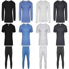 Mens Thermal Underwear Set Long Sleeve T-Shirt Long Johns Trousers S M L XL XXL