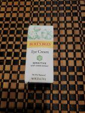 Burt's Bees Eye Cream - Sensitive Skin - 98.9% Natural 0.5oz cotton extract NEW