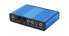 USB 6-Channel Surround Sound Adapter With Digital Optical Audio Input Output
