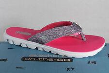 Skechers Ladies Toe Thong Mules Grey New