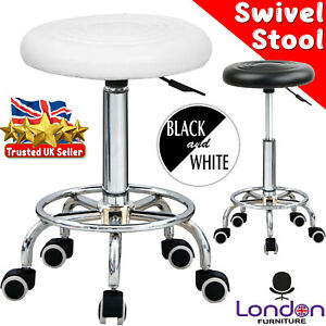 Adjustable Stool Height Swivel Chair Black Chair Office Round Desk PC Stool UK