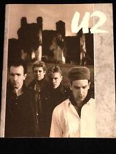 U2-1984/1985-UNFORGETTABLE FIRE TOUR CONCERT PROGRAM-