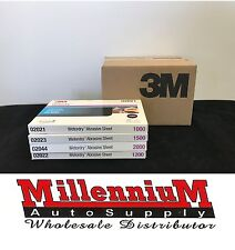 "3M 1000-1200-1500-2000 GRIT Wet or Dry Sandpaper 5.5""x 9"" Sanding (4 boxes/200)"