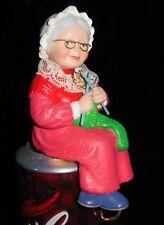 MRS. CLAUS SHELF SITTING SITTER CHRISTMAS STOCKING HOLDER HANGER